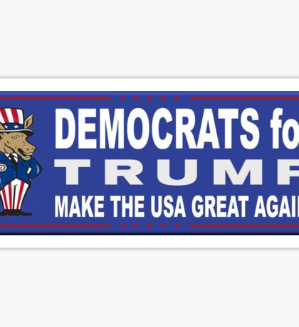 Democrats for Trump Sticker