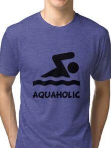 Aquaholic Swimmer Tri-blend T-Shirt