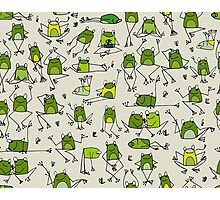 Funny frogs Photographic Print