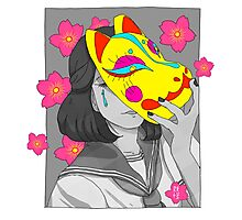 Crying Kitsune Photographic Print