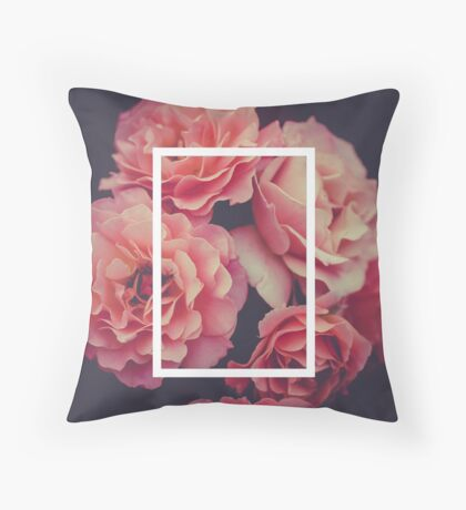 The 1975 Floral Rectangle Throw Pillow