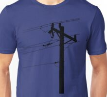 Telephone Pole Power Line Silhouette Unisex T-Shirt