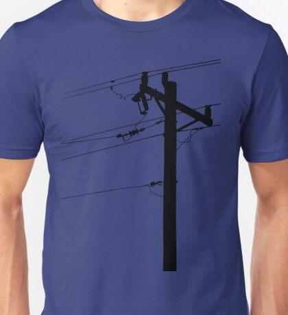 Telephone Pole Power Line Silhouette Unisex T-Shirt