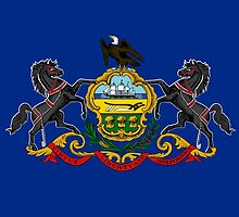 Pennsylvania State Flag by Carolina Swagger