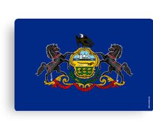 Pennsylvania State Flag Canvas Print