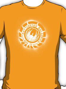 Battlestar Galactica Grunge - Dark Blue and White T-Shirt