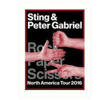 peter and gabriel rock paper scissors  Art Print