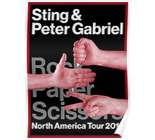peter and gabriel rock paper scissors  Poster