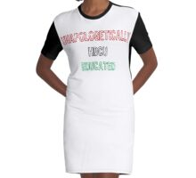 Black & Educated Graphic T-Shirt Dress