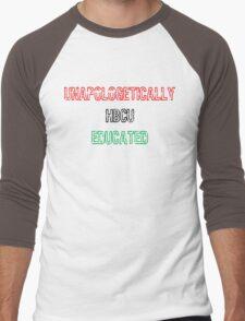 Black & Educated Men's Baseball ¾ T-Shirt