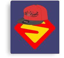 Superwoman logo +cap Canvas Print