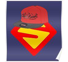 Superwoman logo +cap Poster