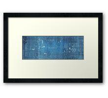Star Wars Blueprints  Framed Print