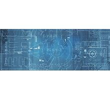 Star Wars Blueprints  Photographic Print