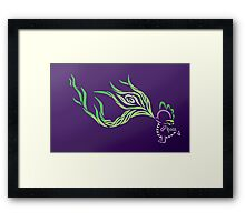 Tribal Dragon - Spike Framed Print