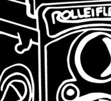 Drawing of Rolleiflex Camera Sticker