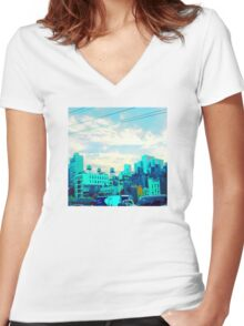 To The East Women's Fitted V-Neck T-Shirt