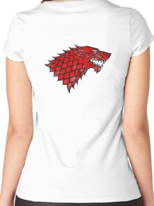 House Stark (blood) Women's Fitted Scoop T-Shirt