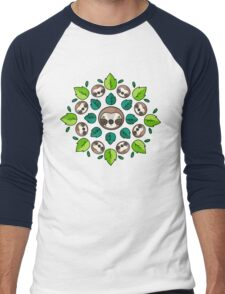 Mandala Sloth Men's Baseball ¾ T-Shirt