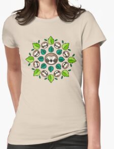Mandala Sloth Womens Fitted T-Shirt
