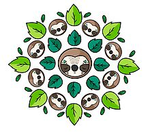 Mandala Sloth Photographic Print