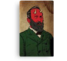 James Abaddon Garfield-Demon Canvas Print