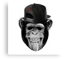 Monkey with cap Canvas Print