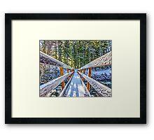 Snowy Bridge Framed Print