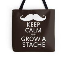 Keep Calm and Grow a Stache Tote Bag