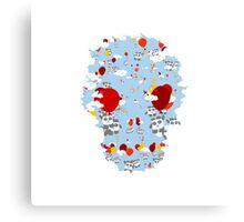 Skull Sky Pandas Canvas Print
