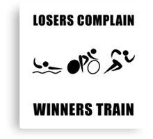 Triathlon Winners Train Canvas Print