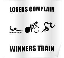 Triathlon Winners Train Poster