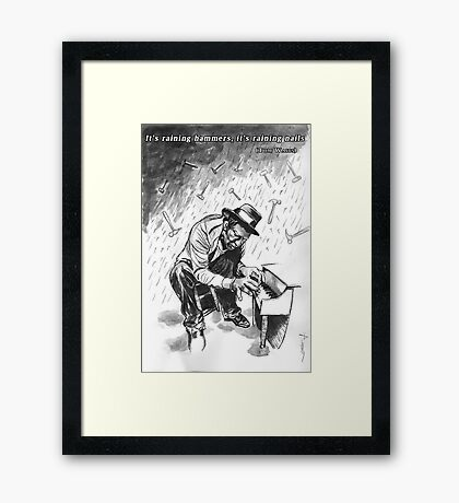 Tom Waits - Illustration Framed Print