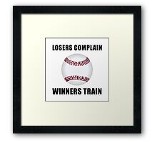 Baseball Winners Train Framed Print