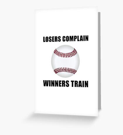 Baseball Winners Train Greeting Card