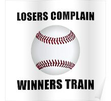 Baseball Winners Train Poster