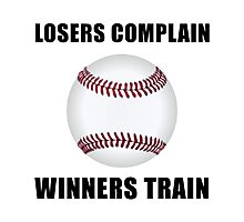 Baseball Winners Train Photographic Print