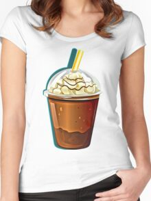 Iced Coffee To Go Women's Fitted Scoop T-Shirt