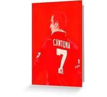 Cantona always a red Greeting Card