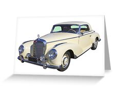 White Mercedes Benz 300 Luxury Car Greeting Card