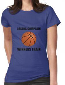 Basketball Winners Train Womens Fitted T-Shirt