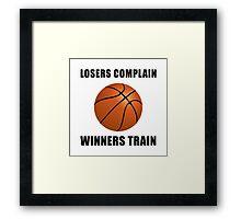 Basketball Winners Train Framed Print