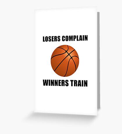 Basketball Winners Train Greeting Card