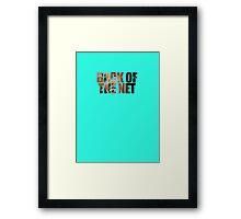 Back Of The Net Framed Print