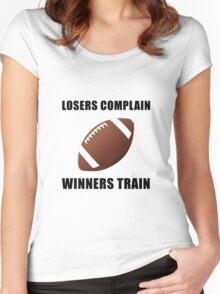 Football Winners Train Women's Fitted Scoop T-Shirt