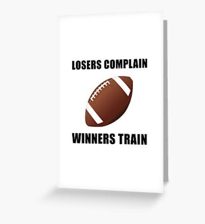 Football Winners Train Greeting Card