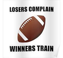 Football Winners Train Poster