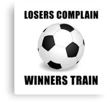 Soccer Winners Train Canvas Print