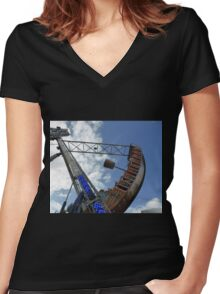 The Swing Boat Women's Fitted V-Neck T-Shirt