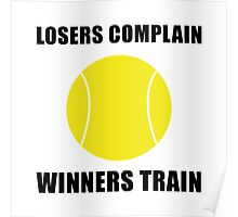Tennis Winners Train Poster